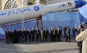 הטיל האירני ששוגר (צילום: התקשורת האירנית)