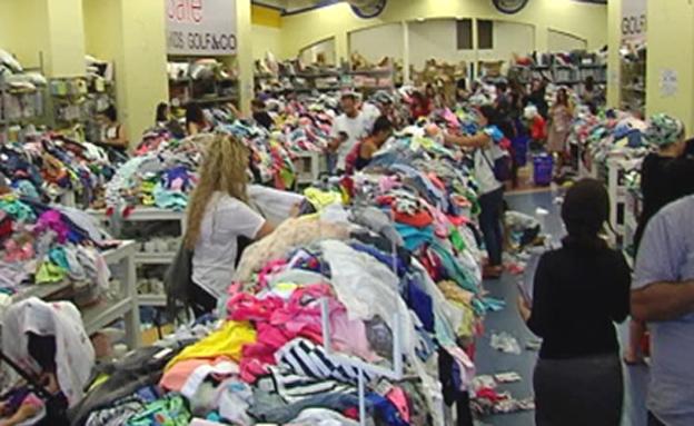 עושות שוק: בגדי ילדים ב-10 שקלים (צילום: חדשות 2)
