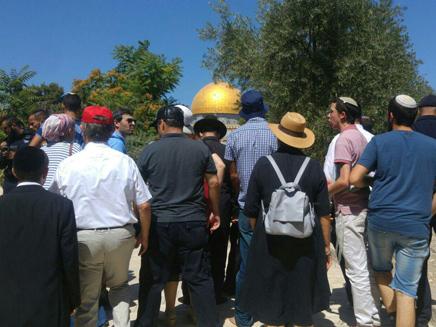 יהודים בהר הבית, ארכיון (צילום: צילום: מטה ארגוני המקדש)