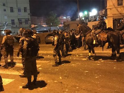 הפגנה ביפו (צילום: דוברות המשטרה)
