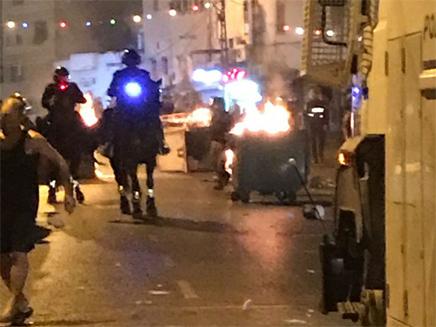 העימותים ביפו (צילום: דוברות המשטרה)