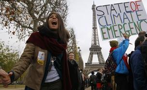 הפגנה בעד ההסכם, פריז (צילום: רויטרס)