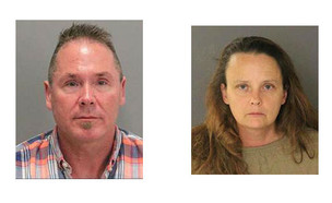 גייל ברנוורת' ומייקל קלר, החשודים בניצול ילדים (צילום: יחסי ציבור)