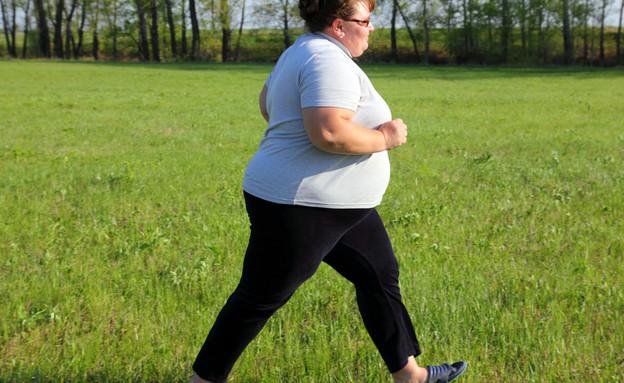 אישה כבדת משקל (צילום: Kokhanchikov, Shutterstock)