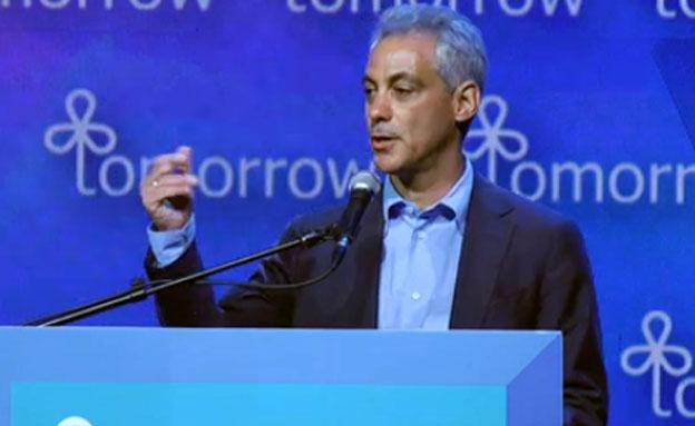 עמנואל, ראש עיריית שיקגו (ארכיון) (צילום: חדשות 2)