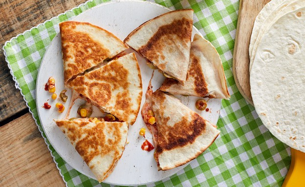 קסדייה פיצה (צילום: אמיר מנחם, אוכל טוב)
