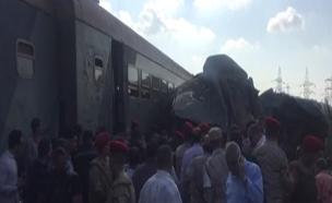 תאונת רכבות קטלנית במצרים, היום (צילום: רויטרס)