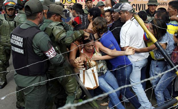 עימותים אלימים בוונצואלה, ארכיון (צילום: רויטרס)