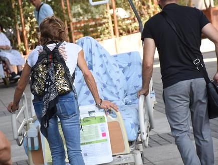 לוסי דובינצ'יק מתאוששת, אוגוסט 2017 (צילום: עידן מימון)
