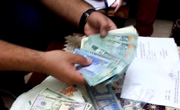 חלק מהכספים שנתפסו