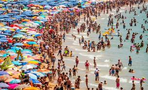 חוף ים  עמוס (צילום: GettyImages-David Ramos)