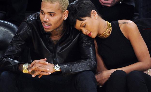 ריהאנה וכריס בראון (צילום: Headlinephoto / Splash News, Splash news)