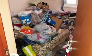 החבילות שנמצאו בבית החשוד (צילום: דוברות המשטרה)