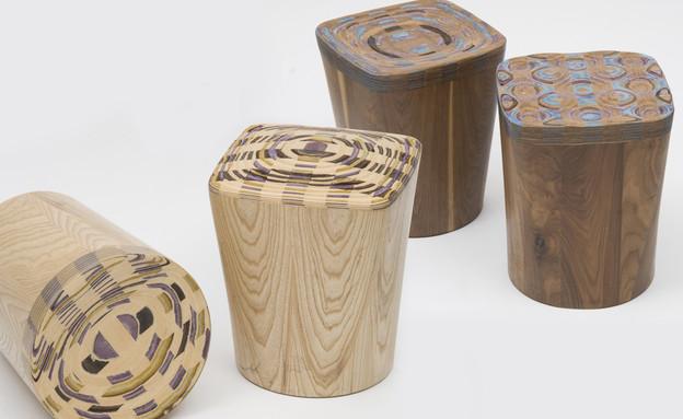 דפי רייס דורון, פרויקט זוכה cad weaving stools בתחרות עבור FENDI (צילום: יחסי ציבור)