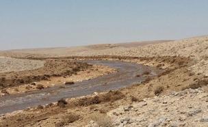 מי שפכים סמוך לים המלח (צילום: חדשות 2)