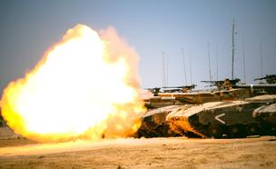 """טנק, שריון, ירי (צילום: אתר צה""""ל)"""
