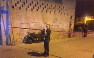 זירת היר ביפו, הערב (צילום: דוברות המשטרה)