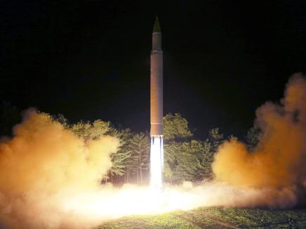 שיגור טיל בצפון קוריאה (ארכיון)