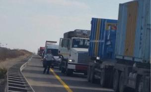 עומסי תנועה כבדים, הכניסה לחיפה (צילום: פנתרים)