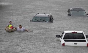 שטפונות בארה''ב בעקבות הוריקן הרווי (צילום: רויטרס)
