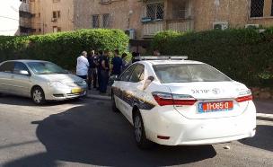 """זירת האירוע בב""""ש (צילום: דוברות המשטרה)"""