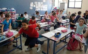 פתיחת שנת הלימודים, כיתה, בית ספר (צילום: רויטרס)
