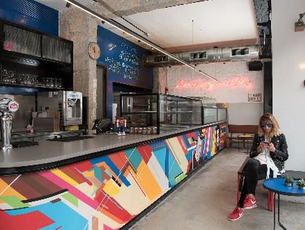 מסעדות04, פיצרייה בסגנון אמריקאי ובעיצוב ניו יורקי