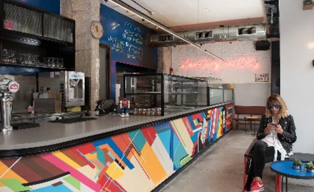 מסעדות04, פיצרייה בסגנון אמריקאי ובעיצוב ניו יורקי (צילום: טל הראל-גזית)