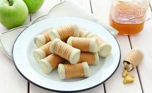 גלילי ופל עם תפוח בדבש (צילום: ענבל לביא)