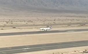 """לראשונה: מטוס נחת בשדה""""ת """"רמון"""" (צילום: סיון פרג')"""
