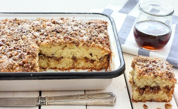 עוגת פקאנים ומייפל (צילום: ענבל לביא, אוכל טוב)