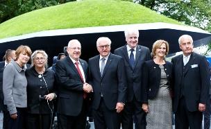 נשיא ריבלין חונך אתר הנצחה לנרצחי אולימפיאדת מינכן (צילום: חדשות 2)