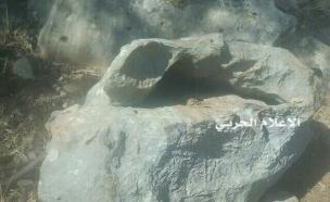 """מתקן הריגול שאותר היום, לפי דיווח """"אל מנ (צילום: כלי תקשורת בלבנון)"""