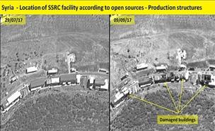 מפעלים שהותקפו ביום חמישי האחרון (צילום: ImageSat International (ISI()