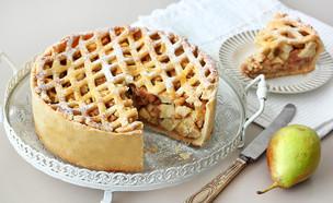 פאי תפוחים ואגסים גבוה במיוחד (צילום: ענבל לביא, אוכל טוב)