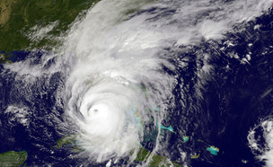 צילום לווין של הוריקן אירמה (צילום: Handout, GettyImages IL)
