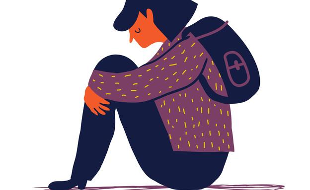 איור נערה בדיכאון (וידאו WMV: kateafter | Shutterstock.com )