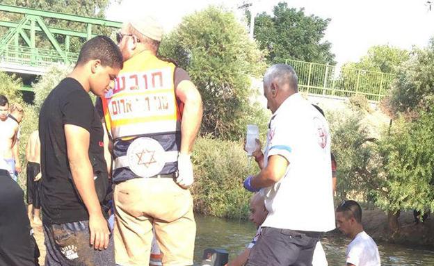זירת הטביעה בנהר הירדן ביום שישי (צילום: חדשות MivzakLive)