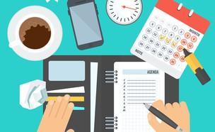שולחן עבודה במשרד (איור: By Dafna A.meron, shutterstock)