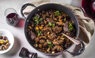 תבשיל בשר וערמונים (צילום: אפיק גבאי, מתכון לחיסכון)