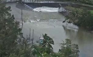 סכר נסדק בפוארטו ריקו (צילום: Sky News)
