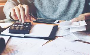 גבר יושב עם מחשבון (אילוסטרציה: kateafter | Shutterstock.com )