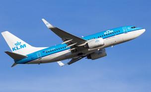 מטוס KLM (צילום: יחסי ציבור, shutterstock)