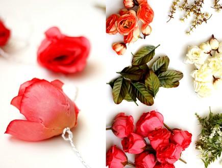 תמר בהרב, 2, מפרידים את הפרחים ומשחילים (צילום: תמר בהרב)