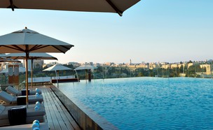 מלון אוריינט בירושלים (צילום: Orient rooftop pool 2_ori Ackerman)