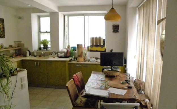 ורד ופנינית, המטבח לפני (27) (צילום: צילום ביתי)