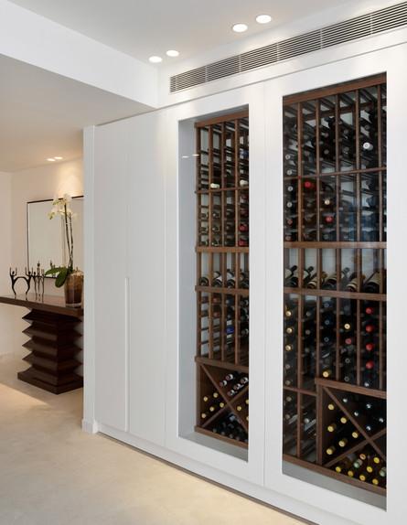 בילדאין06_ אחסון יין דקורטיבי כחלק מהארון