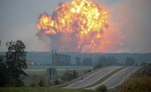 הפיצוץ באוקראינה, היום (צילום: רויטרס)
