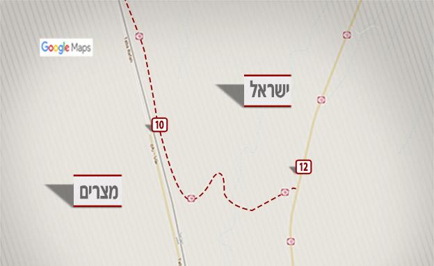 מפה כביש 10 (צילום: מפות גוגל)