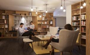 ספרייה בפרויקט המגורים oldok (צילום: יחסי ציבור)